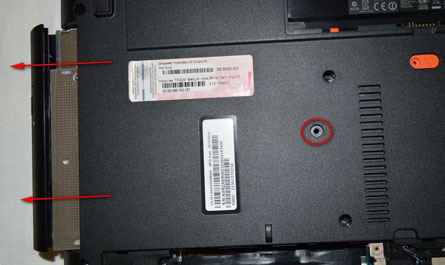 второй жесткий диск на ноутбук