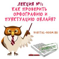 проверить орфографию и пунктуацию онлайн
