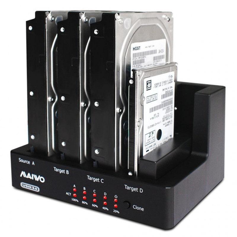 как подключить жесткий диск через док станцию USB