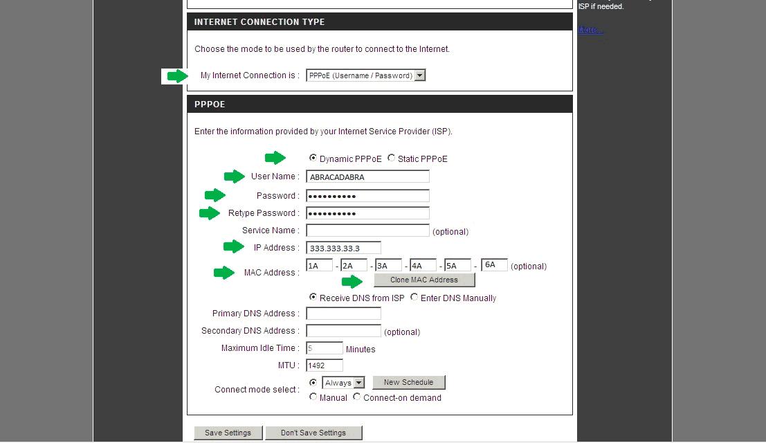 настройка роутера DLink DIR-300 - PPPoE