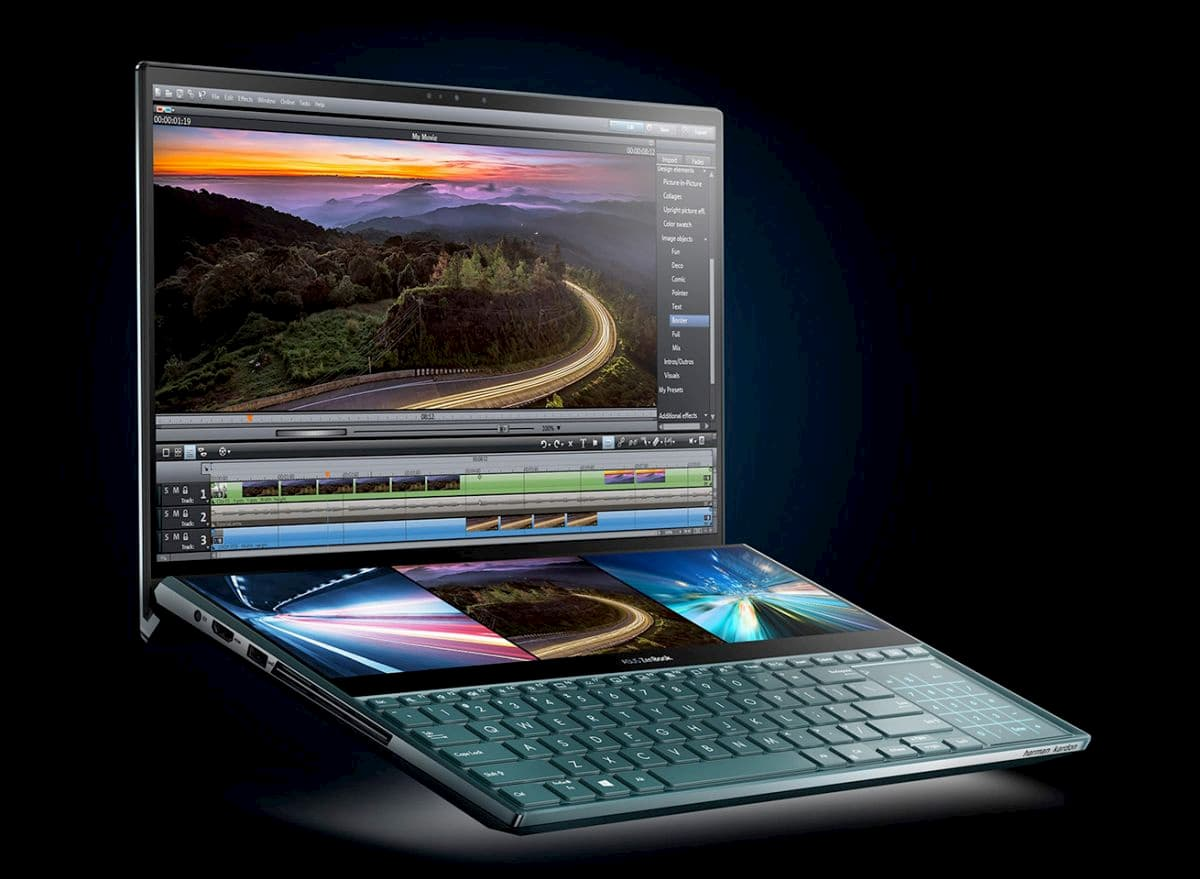 ноутбук ASUS с двумя экранами