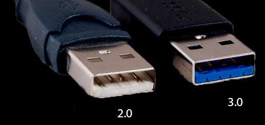 Визуальные отличия USB 2.0 и USB 3.0