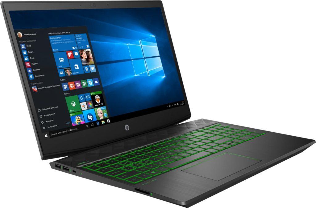 недорогой игровой ноутбук HP Pavilion 15-dk0085ur 8PK28EA