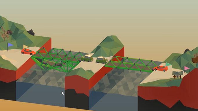 Лучшие логические игры для андроид - Poly Bridge