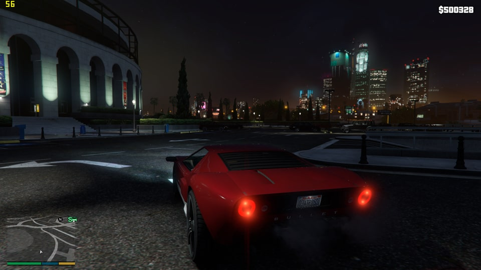 GTA5 на ноутбуке Asus - ночь