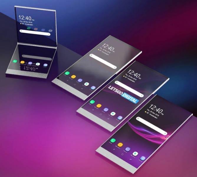 гибкий смартфон с прозрачным экраном Sony