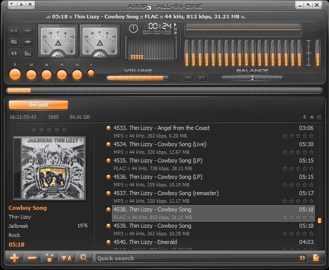 лучшие музыкальные плееры - AIMP