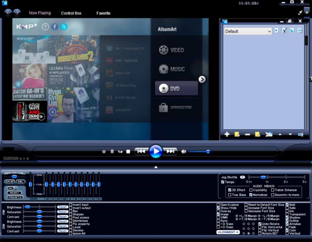 KMPlayer - входит в список лучших музыкальных плееров для windows