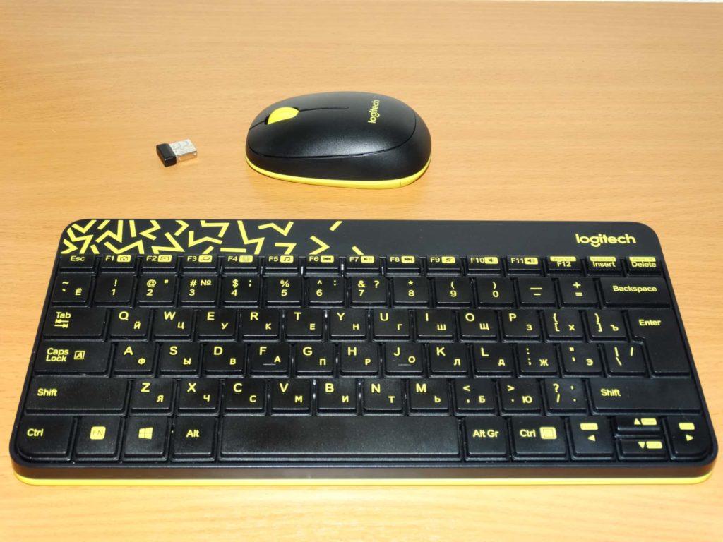 клавиатура и мышь logitech mk240