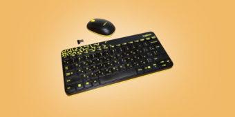 удобная клавиатура и мышь logitech