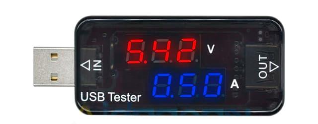 USB тестер для измерения скорости зарядки смартфона