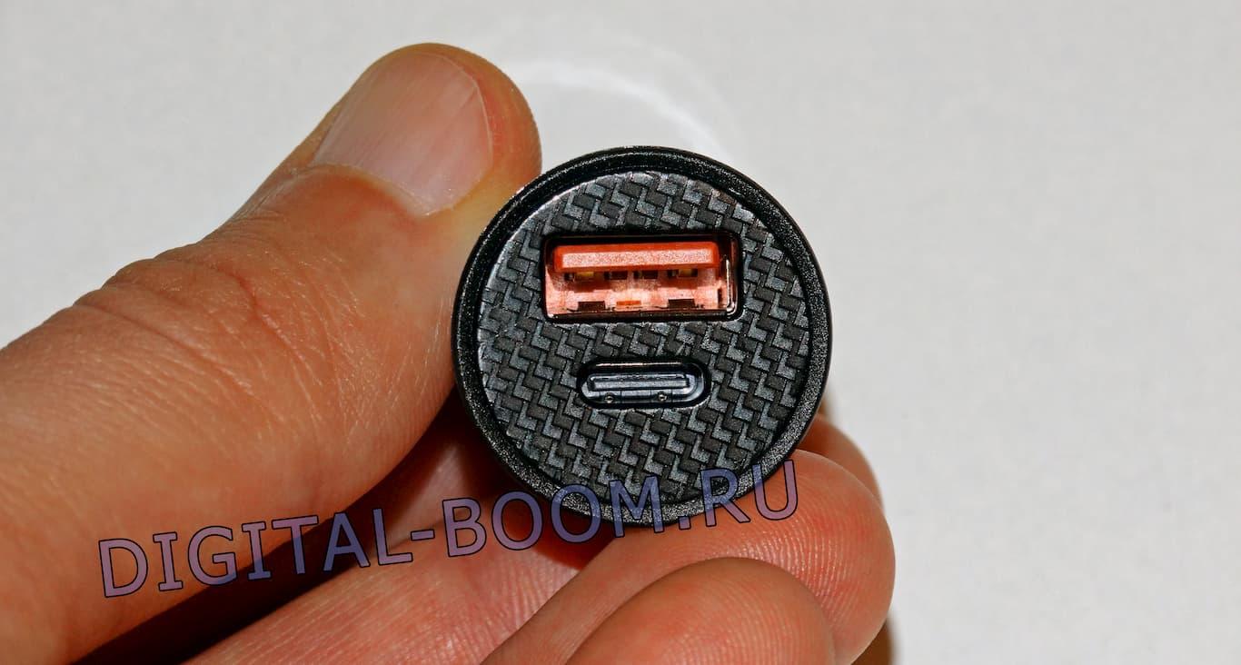 автомобильная зарядка Baseus на 2 выхода с USB C