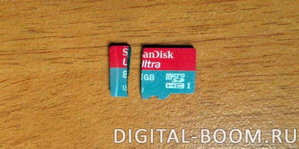 microSD флешка перестала работать из-за поломки
