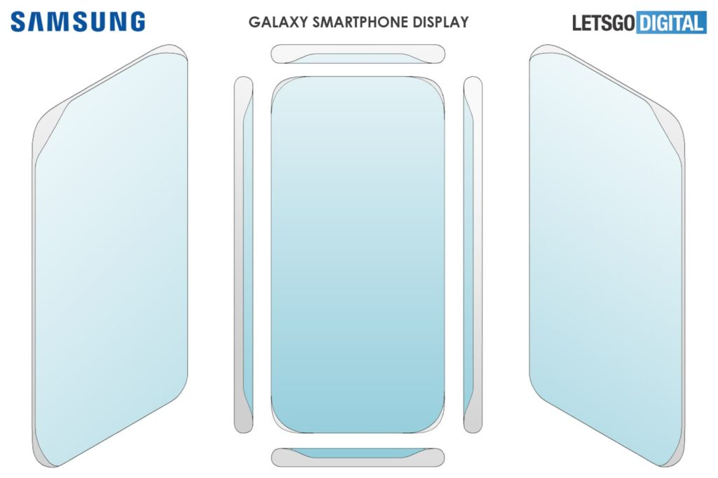патент дисплеев для смартфонов от Samsung